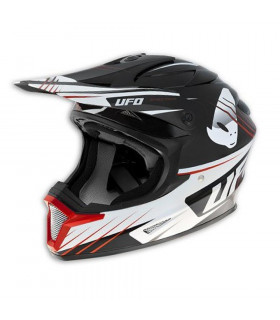 UFO PATRIOT MX HELMET (BLACK/RED)
