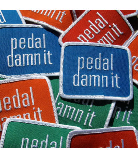 Parche bordado Pedal Damn It (Naranja)