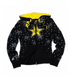 SUDADERA CHICA ONE INDUSTRIES ROCKSTARS STEVIE (NEGRA)