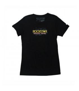 ROCKSTAR PLATER WOMEN T-SHIRT (BLACK)