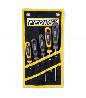 PEDRO'S 5 PIECES SCREWDRIVER SET WITH POUCH