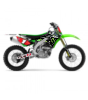 D'COR TEAM MONSTER ENERGY COMPLETE GRAPHIC KIT KAWASAKI KX 250 F (2013-2014)