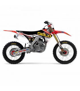 D'COR VISUALS TEAM GEICO GRAPHICS KIT HONDA CRF 450 (2013-2014)
