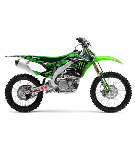 D'COR TEAM MONSTER ENERGY GRAPHIC KIT KAWASAKI KX 450 F (2013-2014)