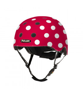 MELON DOTTY WHITE HELMET (MATTE)