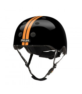 MELON STRAIGHT ORANGE BLACK HELMET