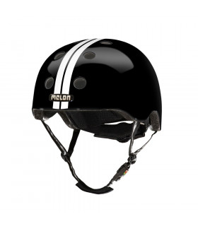 "CASCO MELON ""STRAIGHT"" (BLANCO/NEGRO)"