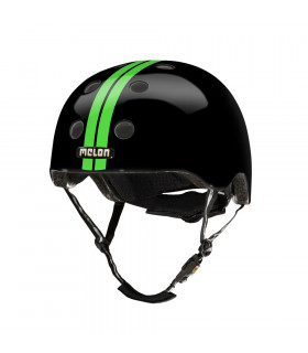 MELON STRAIGHT GREEN BLACK HELMET