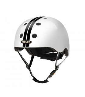 "CASCO MELON ""STRAIGHT"" (NEGRO/BLANCO)"
