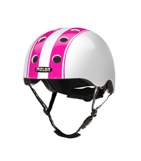"CASCO MELON ""DOUBLE"" (ROSA/BLANCO)"