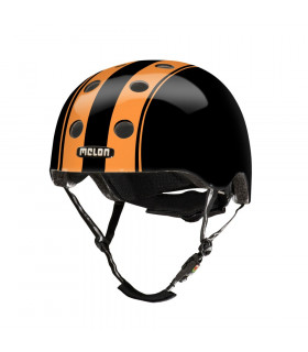 "CASCO MELON ""DOUBLE"" (NARANJA/NEGRO)"