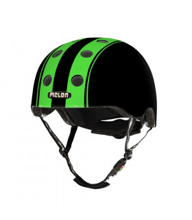 "CASCO MELON ""DOUBLE"" (VERDE-NEGRO/MATE)"