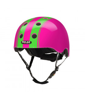 "CASCO MELON ""DOUBLE"" (VERDE/ROSA)"