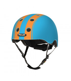 MELON DOUBLE ORANGE BLUE HELMET (MATTE)