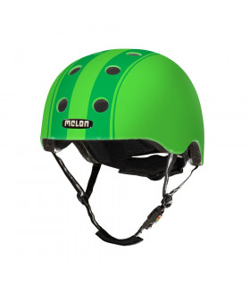 MELON DECENT DOUBLE GREEN HELMET (MATTE)