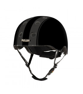 MELON DECENT DOUBLE BLACK HELMET (MATTE)