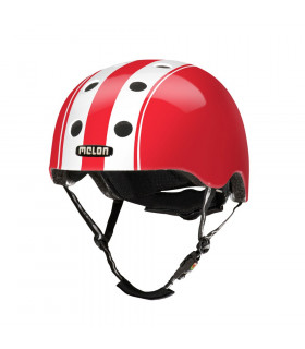 "CASCO MELON ""DOUBLE"" (BLANCO/ROJO)"