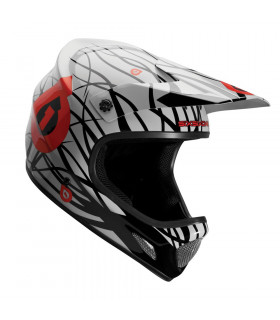 CASCO SIXSIXONE EVO WIRED NEGRO/ROJO (TALLA XL)