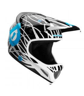 SIXSIXONE EVO WIRED BLACK/CYAN HELMET (SIZE: XL)