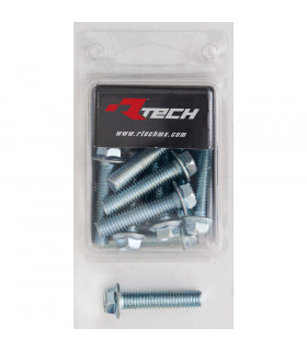 RTECH FLANGED HEX HEAD SCREWS (M8X35/15 PIECES)