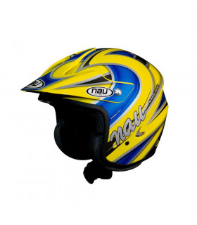 NAU N400 ZONE TRIAL HELMET  (YELLOW/BLUE)