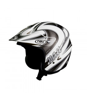NAU N400 ZONE TRIAL HELMET  (WHITE/GREY)