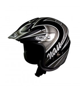 NAU N400 ZONE TRIAL HELMET (BLACK/GREY)