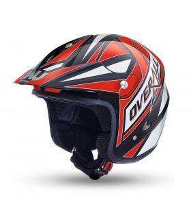 NAU N400 OVERALL TRIAL HELMET (BLACK/RED)