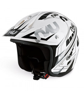 CASCO TRIAL NAU N400 POWER (BLANCO/NEGRO)