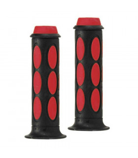 DOMINO DUAL COLORED SCOOTER GRIPS (BLACK/RED)