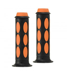 DOMINO DUAL COLORED SCOOTER GRIPS (BLACK/ORANGE)