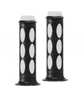 DOMINO DUAL COLORED SCOOTER GRIPS (BLACK/WHITE)