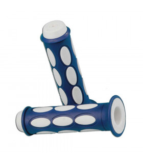 DOMINO DUAL COLORED SCOOTER GRIPS (BLUE/WHITE)