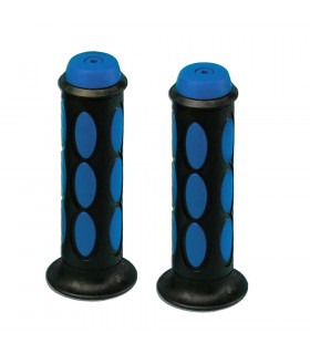 DOMINO DUAL COLORED SCOOTER GRIPS (BLACK/BLUE)
