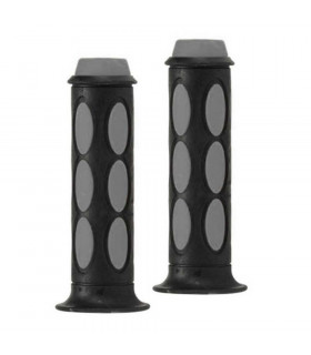 DOMINO DUAL COLORED SCOOTER GRIPS (BLACK/GREY)