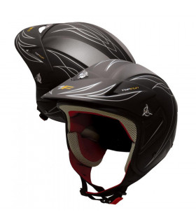CASCO TRIAL TOPFUN (NEGRO MATE)
