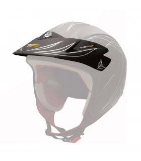 TOP FUN HELMET VISOR   (MATTE BLACK)