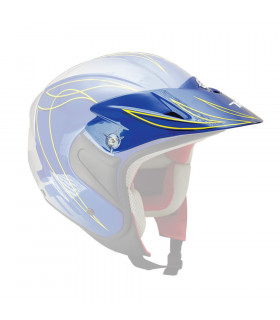 TOP FUN TRIAL HELMET VISOR   (BLUE)