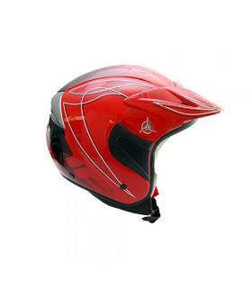 CASCO TRIAL TOPFUN (ROJO BRILLANTE)