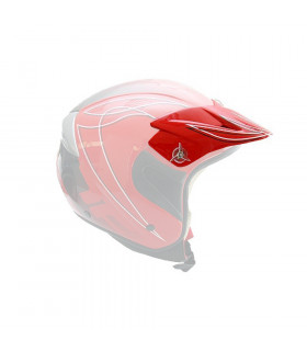 TOPFUN TRIAL HELMET VISOR (RED)