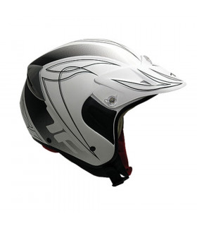 TOPFUN TRIAL HELMET (MATE WHITE)