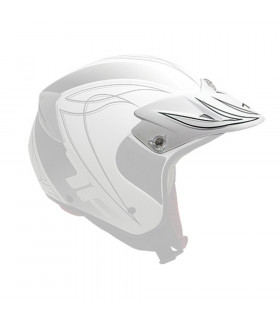 TOP FUN TRIAL HELMET VISOR   (WHITE MATTE)