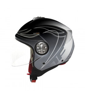 CASCO TOPFUN EAGLE (NEGRO MATE)