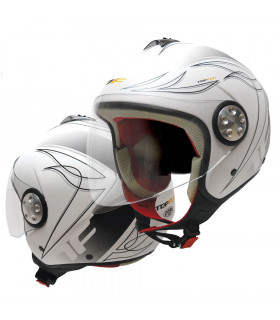 CASCO TOPFUN EAGLE (BLANCO MATE)