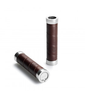 BROOKS SLENDER LEATHER GRIPS  (BROWN/130 MM-130 MM)