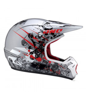 CASCO ONE INDUSTRIES KOMBAT MASSACRE (ROJO/PLATA)
