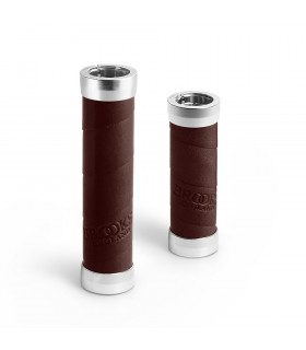 BROOKS SLENDER LEATHER GRIPS (BROWN/100 MM-130 MM)