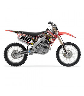 H&H ROCKSTAR GRAPHICS KIT + SEAT COVER HONDA CRF 450 (2007-2008)
