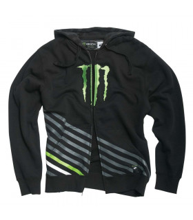 SUDADERA MONSTER VERTICAL (NEGRA)