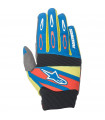 GUANTES MX ALPINESTARS TECHSTAR FACTORY  BLUE/YELLOW RED.